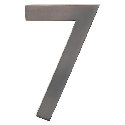 Architectural Mailbox 4  Cast Floating House Number 7 Dark Aged Copper