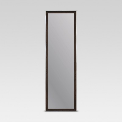 Rectangle Leaner Floor Mirror, Brown with Metal Foil Trim - Threshold™