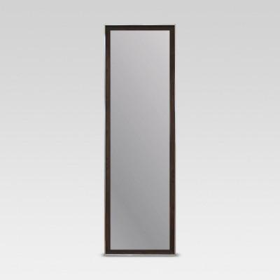 Rectangle Leaner Floor Mirror Brown, Full Length Mirror Black Trim