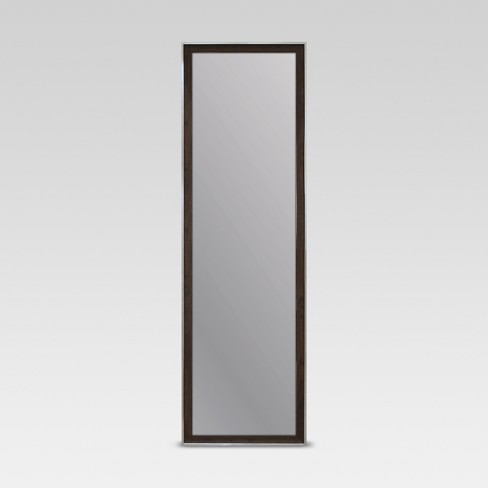 Rectangle Leaner Floor Mirror, Brown with Metal Foil Trim - Threshold™ - image 1 of 4