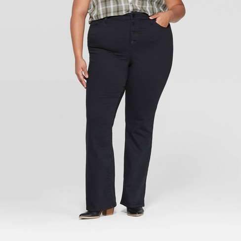 Women's Plus Size Mid-Rise Bootcut Jeans - Universal Thread™ Black - image 1 of 4