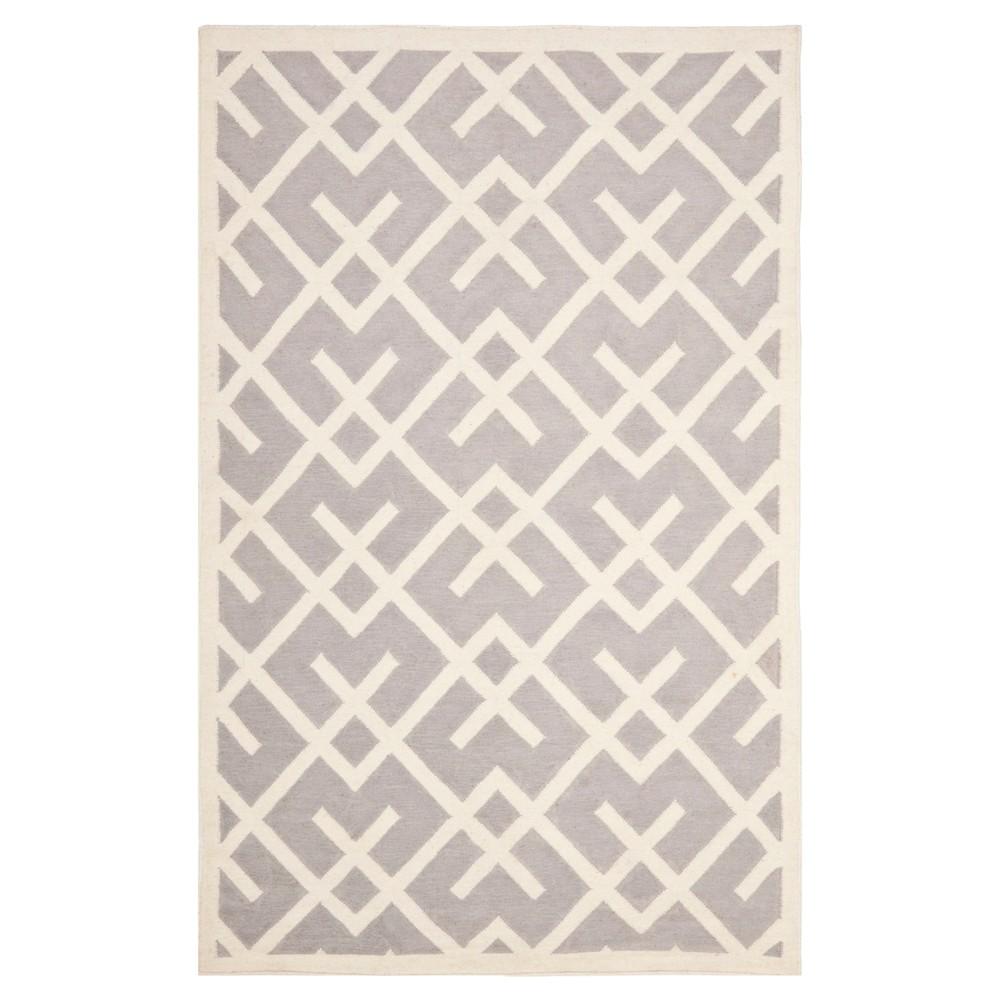 Tangier Dhurry Rug - Gray/Ivory (5'x8') - Safavieh