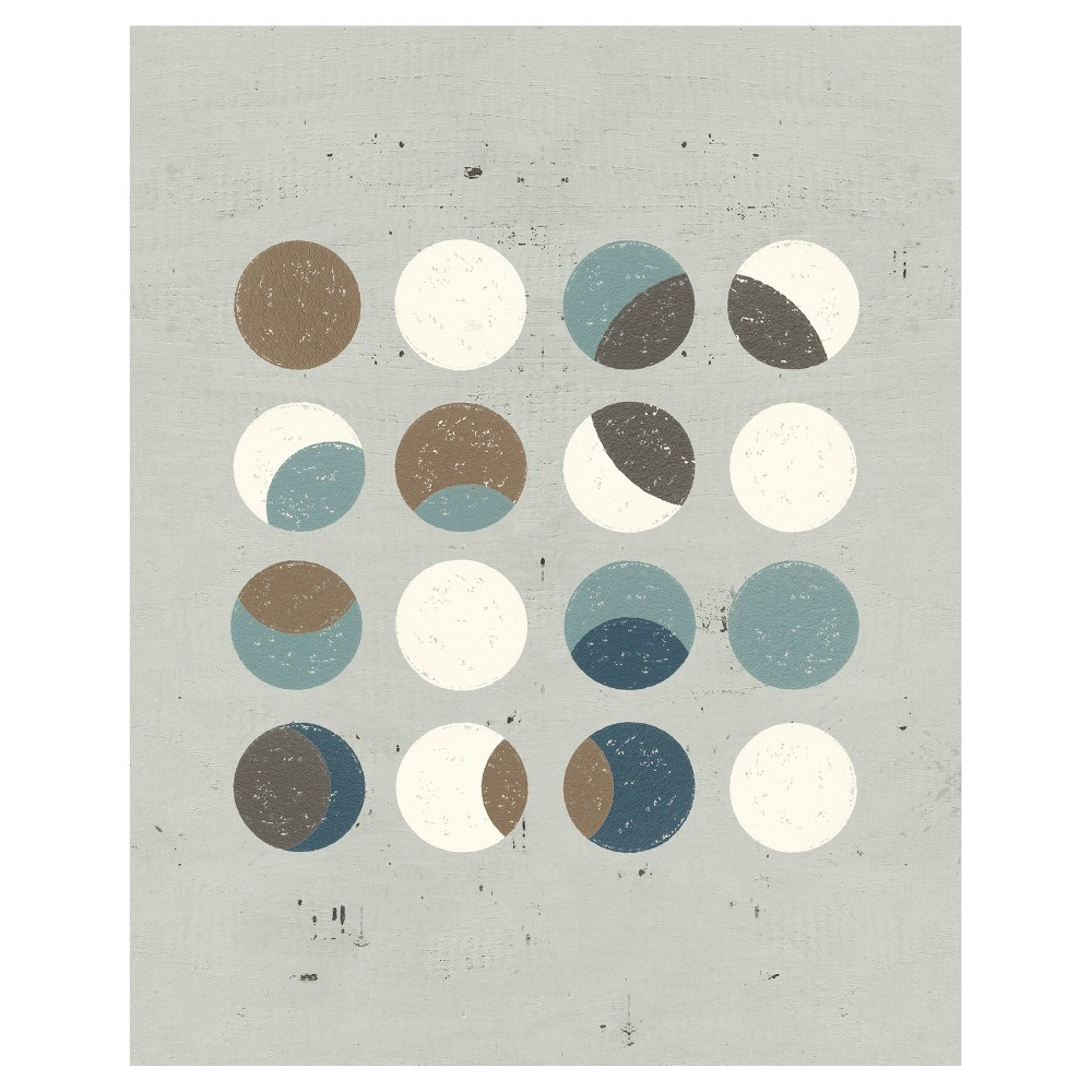 Circle Play Light 3 Unframed Wall Canvas Art - (24X30), Multi-Colored