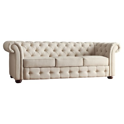 Beekman Place Chesterfield Sofa   Smoke   Inspire Q