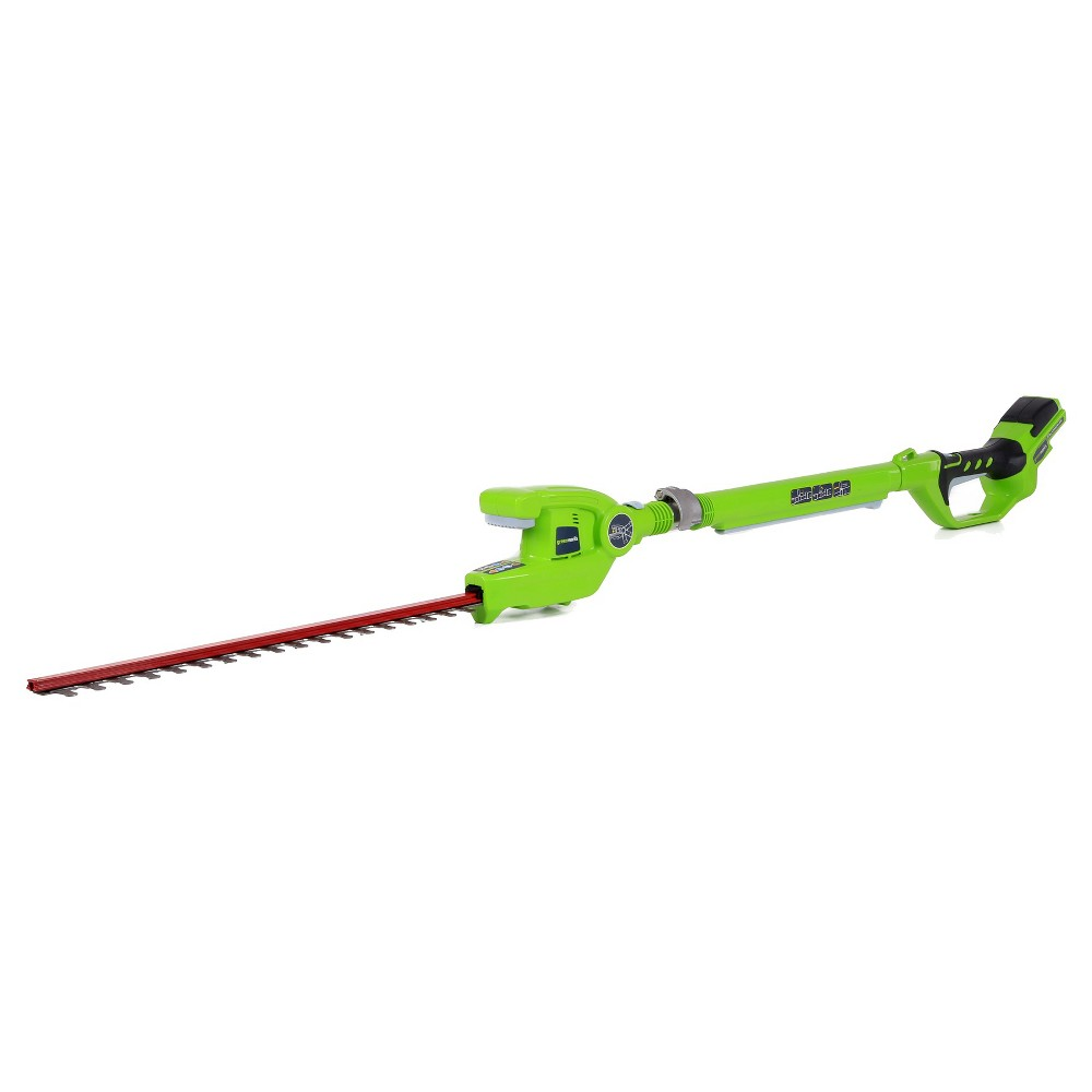 Greenworks G24 24V Cordless 20 Extended Reach Hedge Trimmer - Tool Only, Green