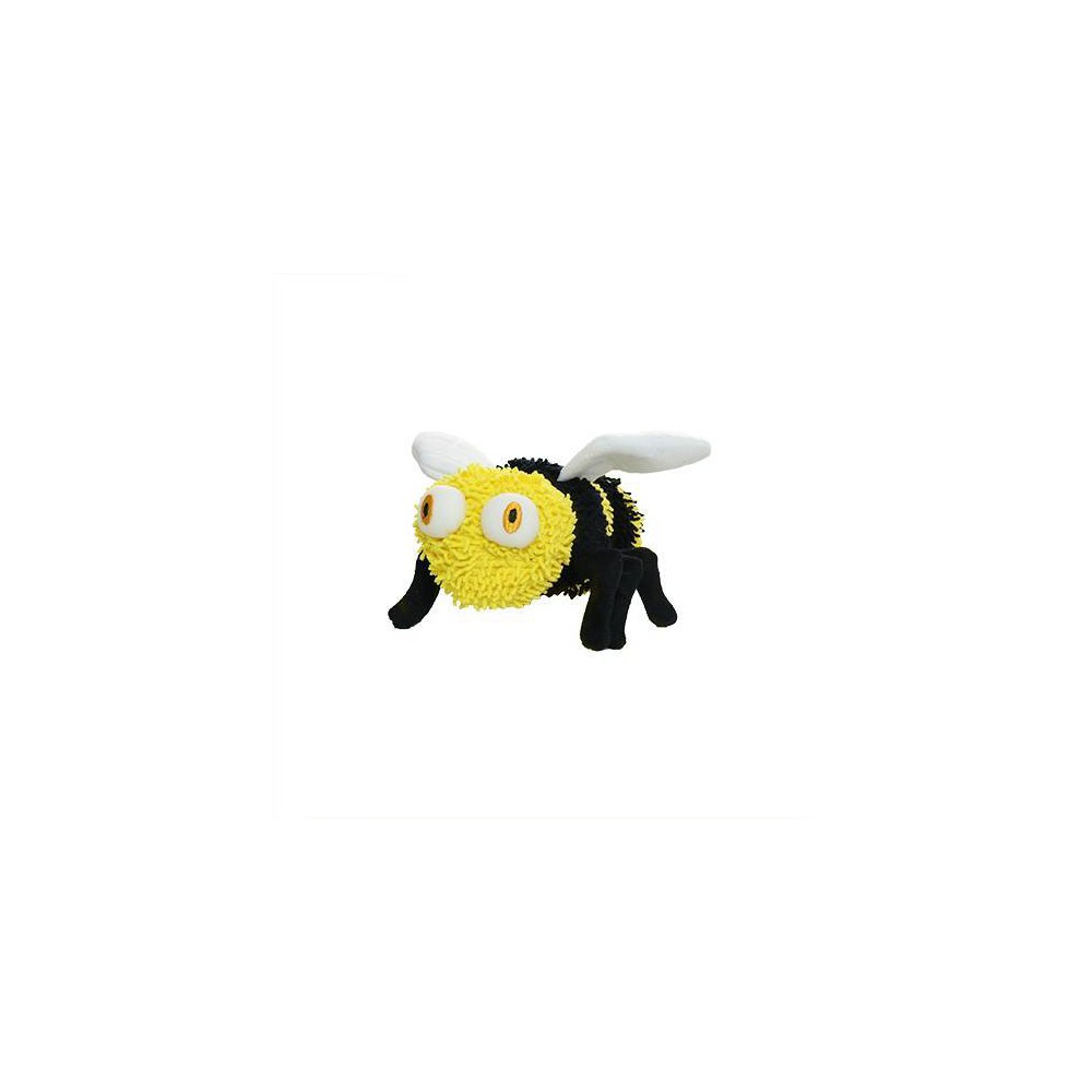 Mighty Microfiber Ball Bee Dog Toy M