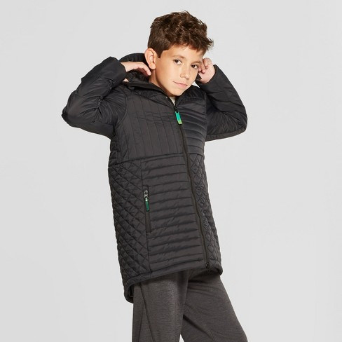 7f8eaf2f208a Boys  Long Puffer Jacket - C9 Champion® Black   Target