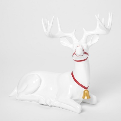 32b96ae391ee Decorative Figurine Reindeer with Collar – White – Threshold ...