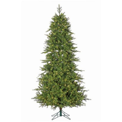 7.5ft Sterling Tree Company Pre-Lit Full Shasta Pine Tree with Instant Glow Power Pole and 750 LED Lights Artificial Christmas Tree