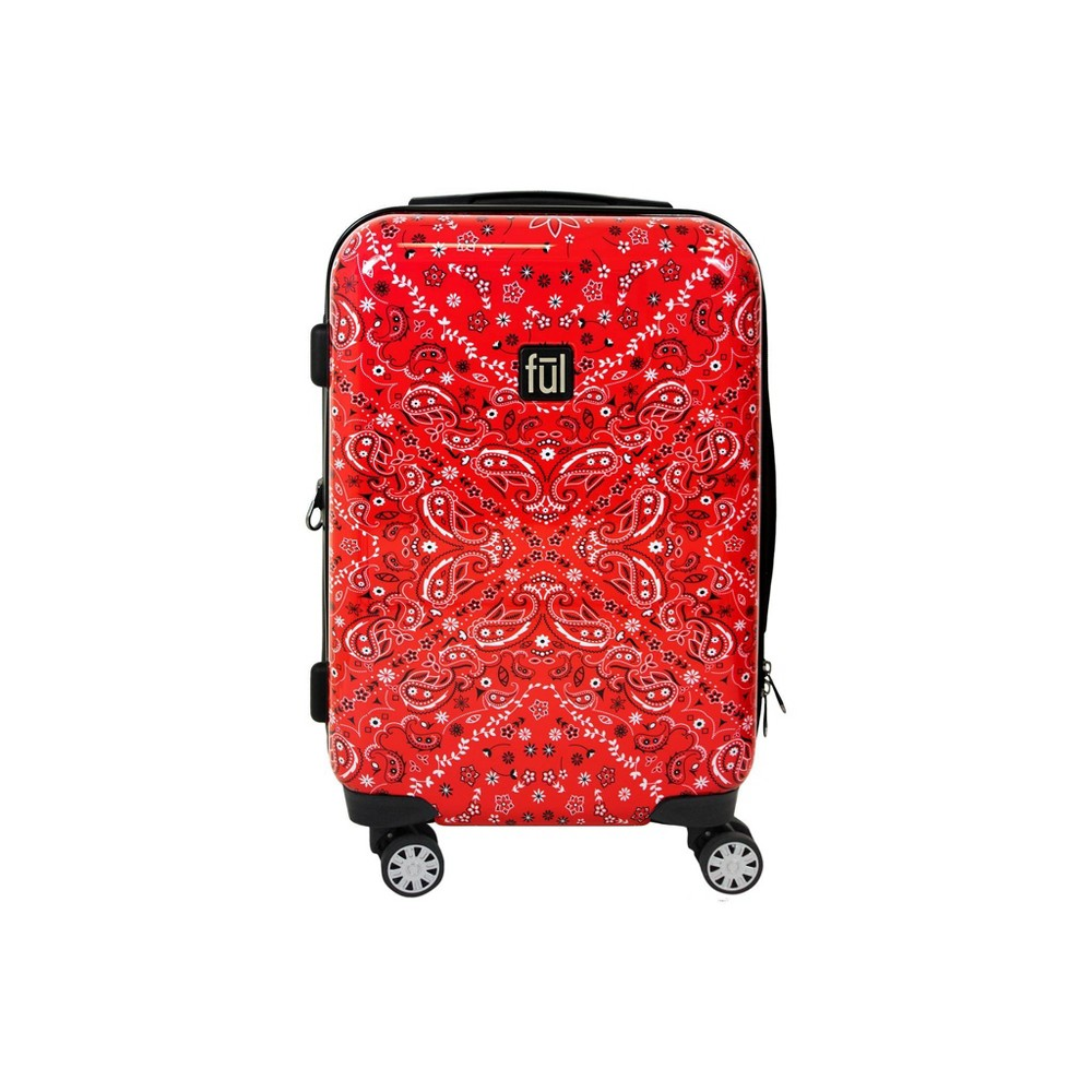 "Image of ""FUL 21"""" Bandana Hardside Spinner Suitcase - Red, Size: Small"""