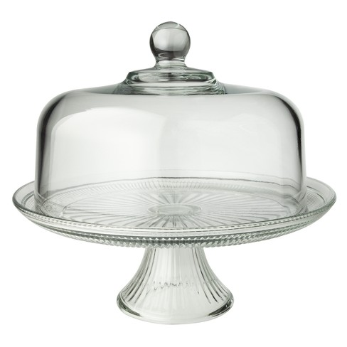 cake stand with cover - Glass Cake Dome