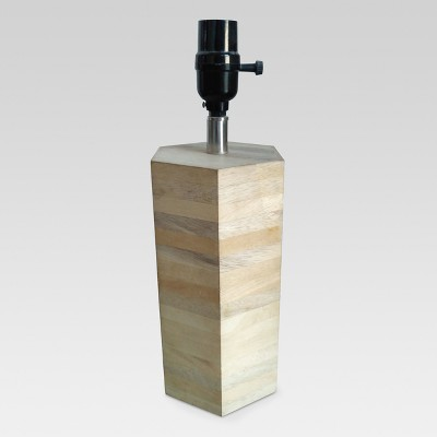 Modern Wood Small Lamp Base Natural Wood Includes Energy Efficient Light Bulb - Threshold™