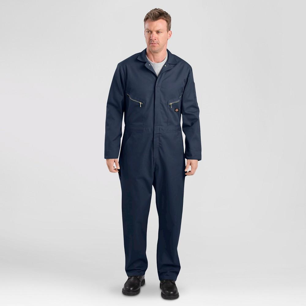 Image of petiteDickies Men's Deluxe Long Sleeve Blended Twill Coverall - Dark Navy L Short, Men's, Size: Large Short, Dark Blue
