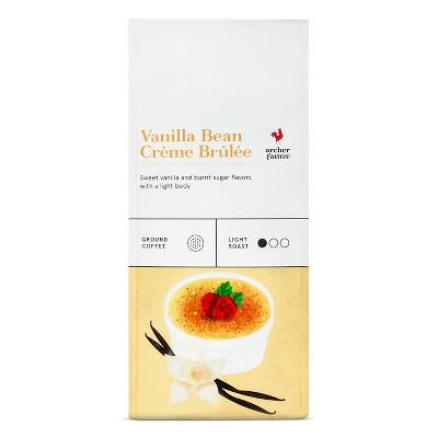 Vanilla Bean Crème Brulee Light Roast Ground Coffee - 12oz - Archer Farms™