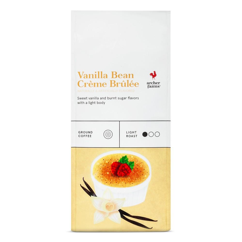 Vanilla Bean Crème Brulee Light Roast Ground Coffee - 12oz - Archer Farms