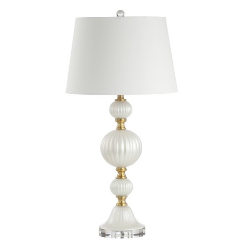 """30.25"""" Maddie Glass/Crystal LED Table Lamp White (Includes Energy Efficient Light Bulb) - JONATHAN Y - image 1 of 4"""