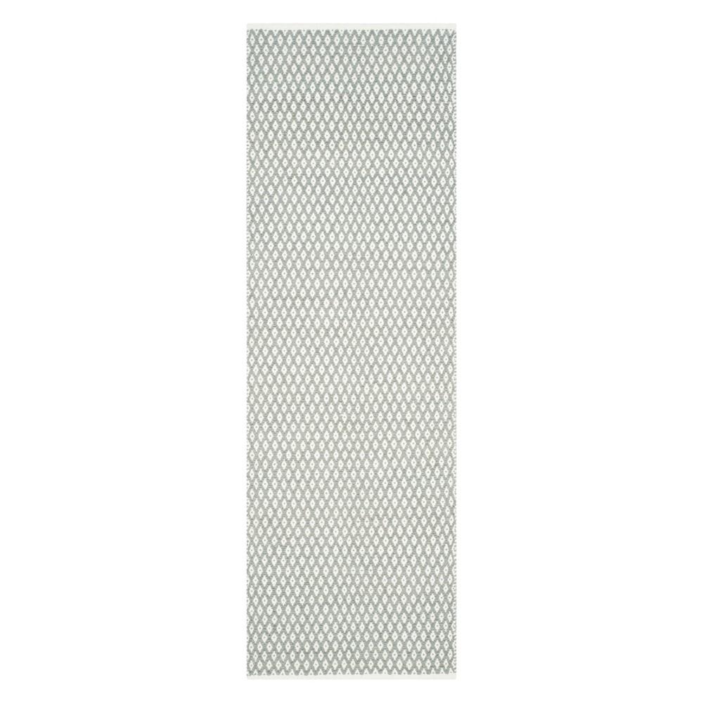 23X9 Geometric Runner Gray - Safavieh Coupons