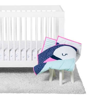 Crib Bedding Set Swan 3pc - Cloud Island™ Blue