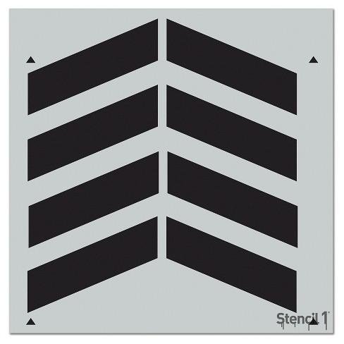 """Stencil1 Chevron Repeating - Wall Stencil 11"""" x 11"""" - image 1 of 4"""