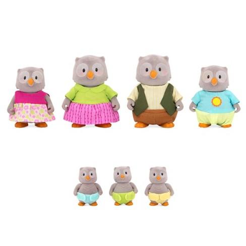Li'l Woodzeez Miniature Animal Figurine Set - McHoot Owl Family - image 1 of 3