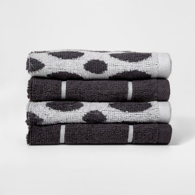 Woven Pattern Washcloth Dark Gray - Project 62™