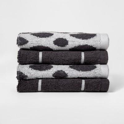 Woven Pattern Washcloth Dark Gray - Project 62™