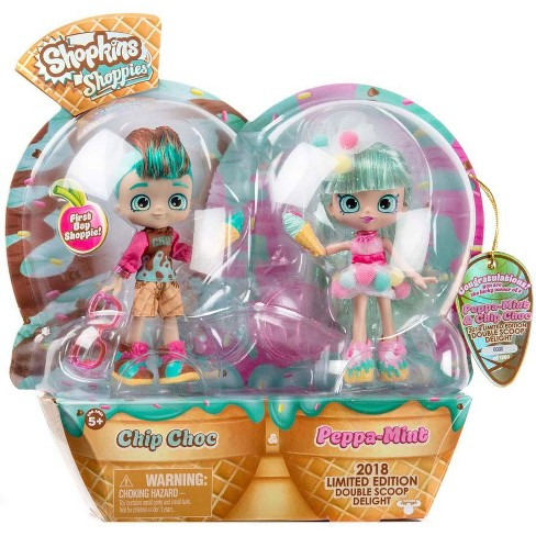 Shopkins Shoppies Peppa Mint and Chip Choc Double Scoop Delight Doll 2-Pack - image 1 of 1