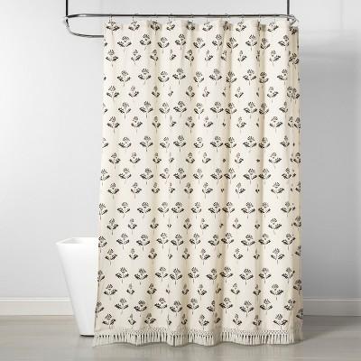 Printed Floral Shower Curtain Cream/Black - Threshold™
