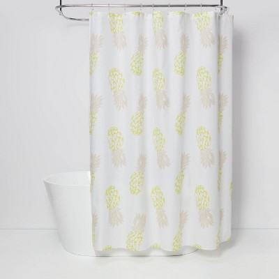Fruit Shower Curtain Bleached Sand - Room Essentials™
