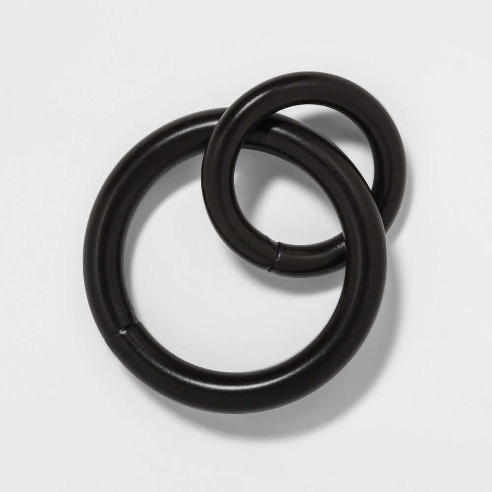 Image of Set of 8 Drapery Rings Bronze - Threshold