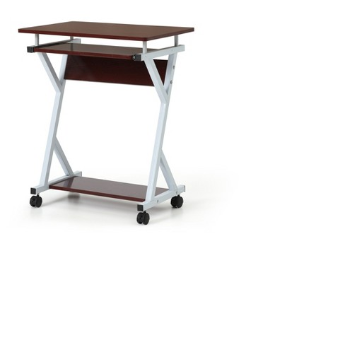 Computer Desk with Keyboard Tray - Hodedah Import - image 1 of 4