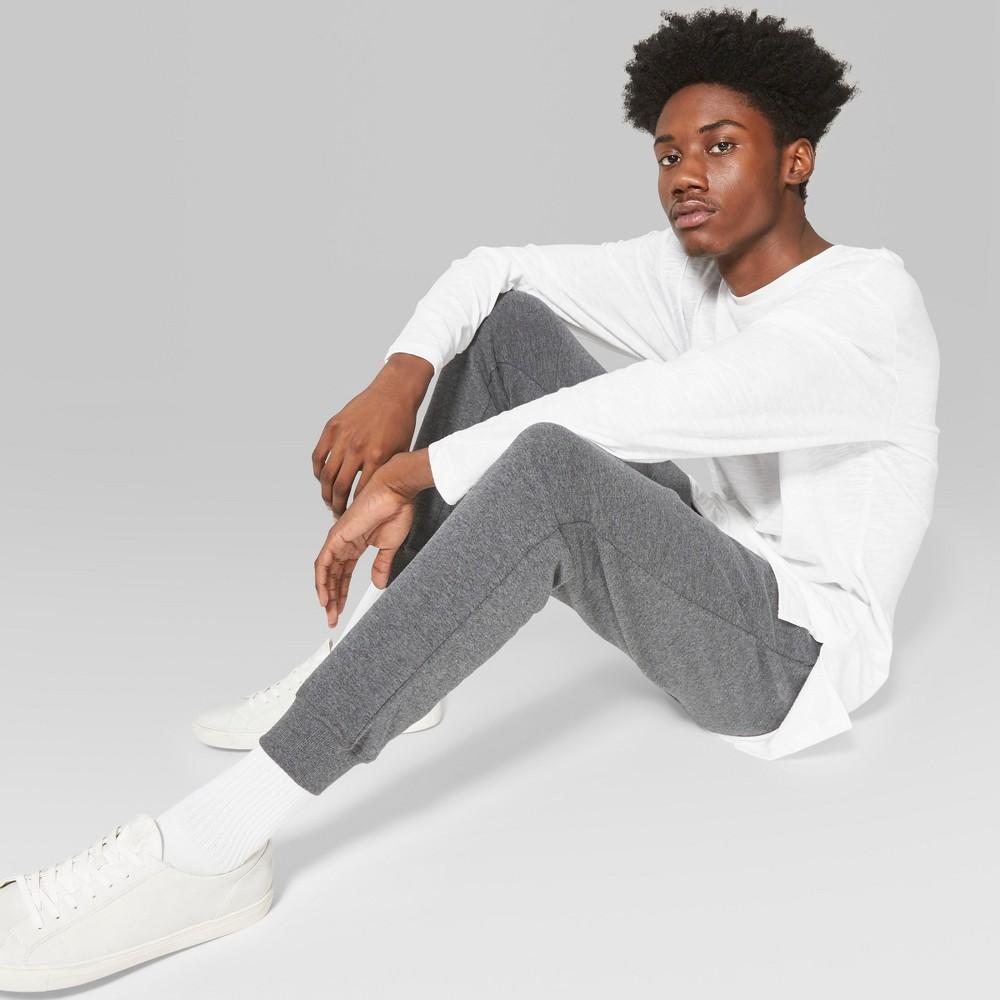 Men's Knit Drop Crotch Jogger Pants - Original Use Charcoal (Grey) L