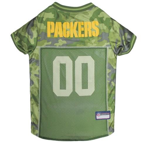 timeless design 677d3 2a1c4 NFL Pets First Camo Pet Football Jersey - Green Bay Packers