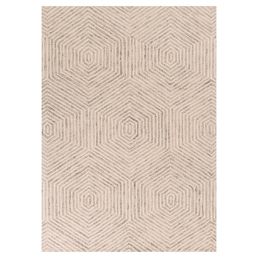 Ivory Geometric Tufted Area Rug - (3'3