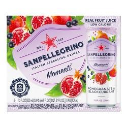 Sanpellegrino Momenti Pomegranate & Blackcurrant - 6pk/11.15 fl oz Cans