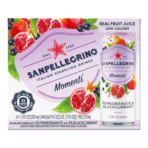 Sanpellegrino Momenti Pomegranate & Blackcurrant - 6pk/11.15 fl oz Cans - image 1 of 4
