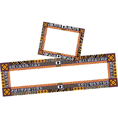 Barker Creek 81pc Africa Nametag and Name Plate Set - image 1 of 4