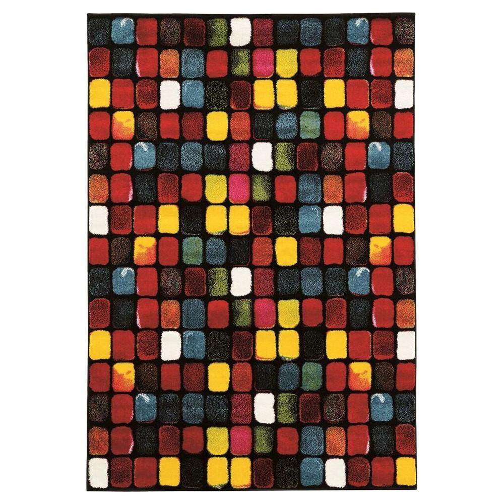 Masters MR10 Paint Box Area Rug (5' X 7'6), Multicolored