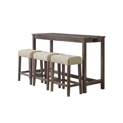 Turner Multipurpose Bar Dining Table Set Gray - Picket House Furnishings