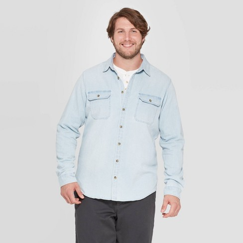 Men's Big & Tall Long Sleeve Button-Down Shirt - Goodfellow & Co™ - image 1 of 3