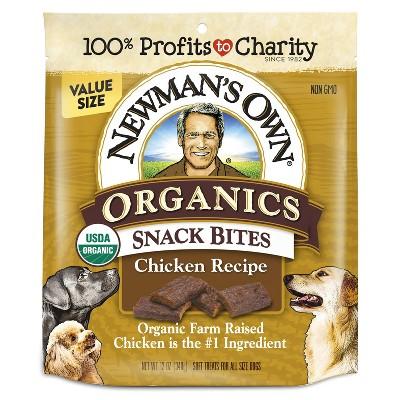 Newman's Own Organics Snack Bites Chicken Recipe Soft Chewy Dog Treats