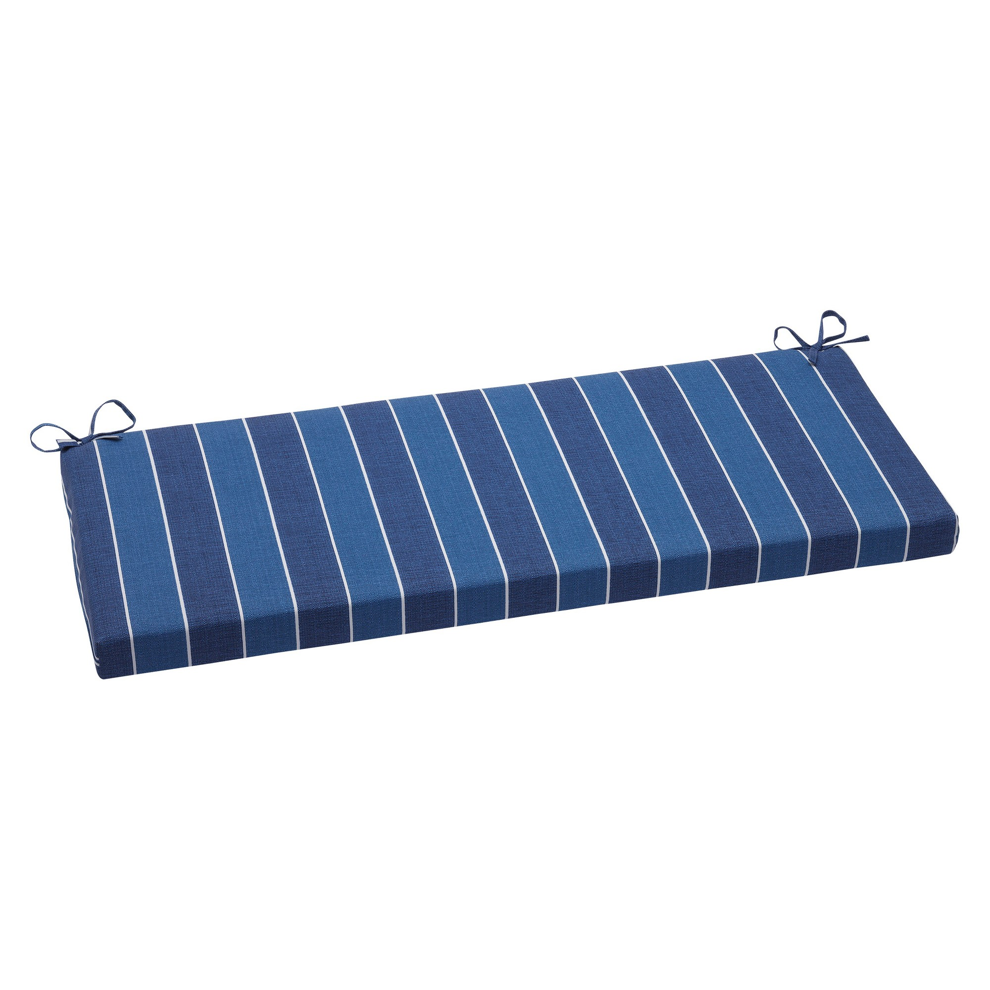 Pillow Perfect Wickenburg Outdoor Bench Cushion - Blue, Blue/White