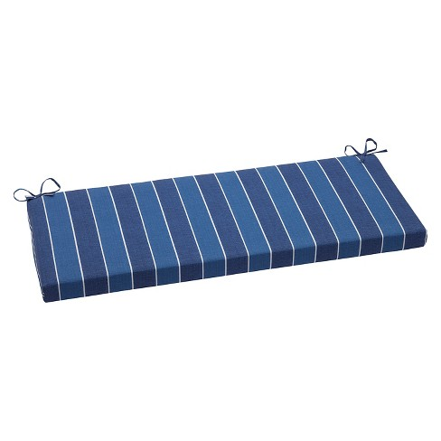 Pillow Perfect Wickenburg Outdoor Bench Cushion - Blue - image 1 of 4
