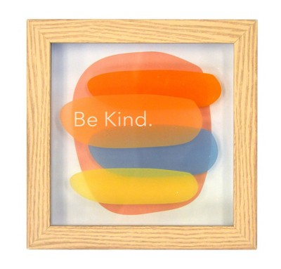 Be Kind Framed wall poster print - New View