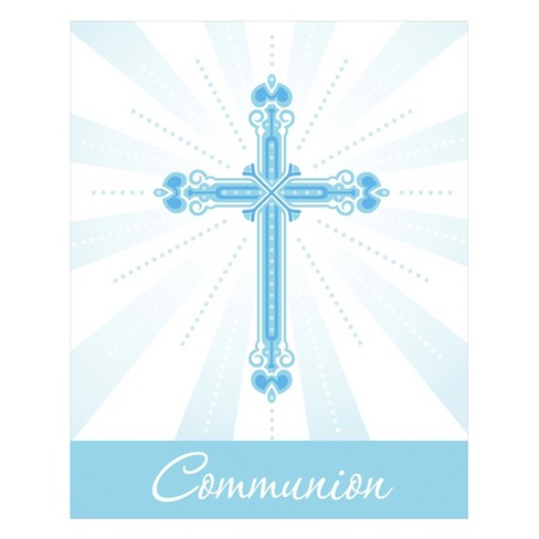 25ct religious blessings blue communion invitations target