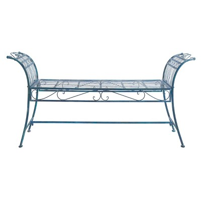Hadley Bench - Antique Blue - Safavieh