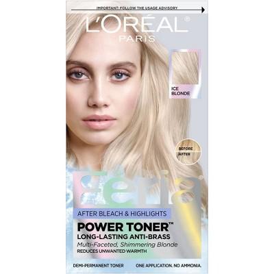 L'Oreal Paris Feria Power Toner, Long Lasting Anti Brass Toner Ice Blonde 9P - 1 fl oz