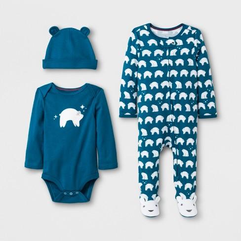 97ec4148f Baby s 3pc Polar Bear Set - Cloud Island™ Blue   Target