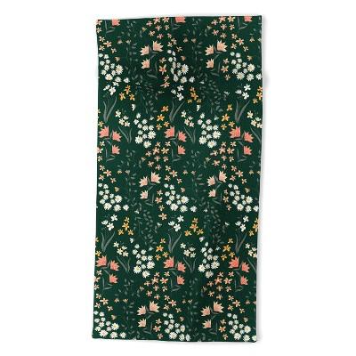 Emanuela Carratoni Meadow Flowers Theme Beach Towel - Deny Designs