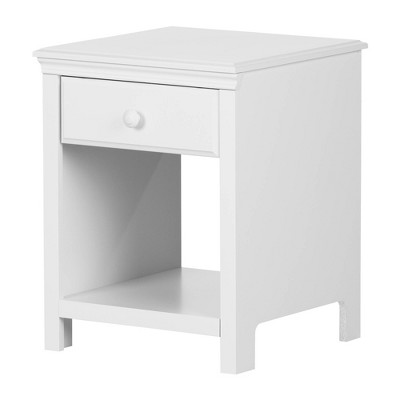 Cotton Candy 1 Drawer Nightstand Pure White - South Shore